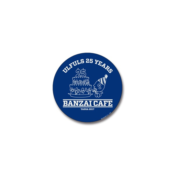 BANZAI CAFE ケーキ 缶バッジ