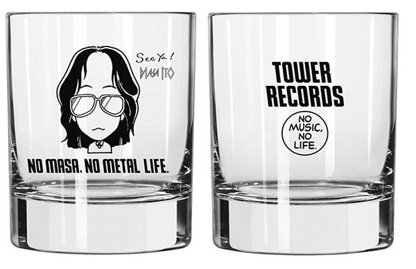 伊藤 政則 × TOWER RECORDS ロックグラス Front/Back