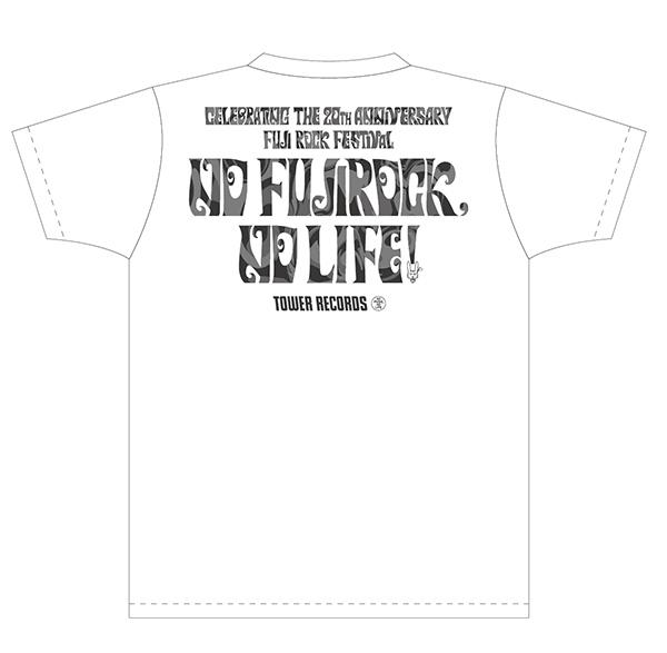 忌野清志郎さん「NO FUJIROCK, NO LIFE!」記念TシャツBACK