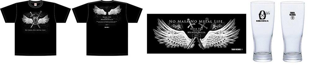 伊藤 政則 × TOWER RECORDS  T-shirt(Front/Back)、フェイスタオル、ビアグラス(Front/Back)