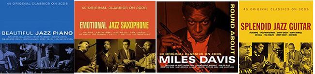 『Beautiful Jazz Piano』、『Emotional Jazz Saxophone』、Miles Davis『Round About Miles Davis』、『Splendid Jazz Guitar』