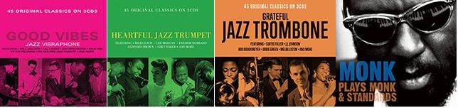 『Good Vibes, Jazz Vibraphone』、『Heartful Jazz Trumpet』、『Grateful Jazz Trombone』、Thelonious Monk『MONK Plays Monk & Standards』