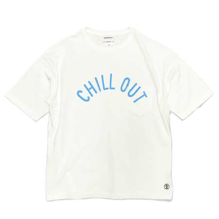 Chill Out BIG Tee white