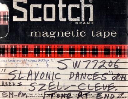スラヴ舞曲集アナログマスターの外箱