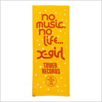 TOWER RECORDS × X-girl NMNL TOWEL