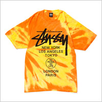 TOWER RECORDS x STUSSY NMNL TIE DYE WORLD TOUR TEE