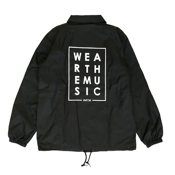 WTM LOGOコーチジャケット ブラック
