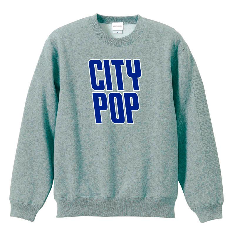 ジャンルSWEAT クルー CITY POP グレー