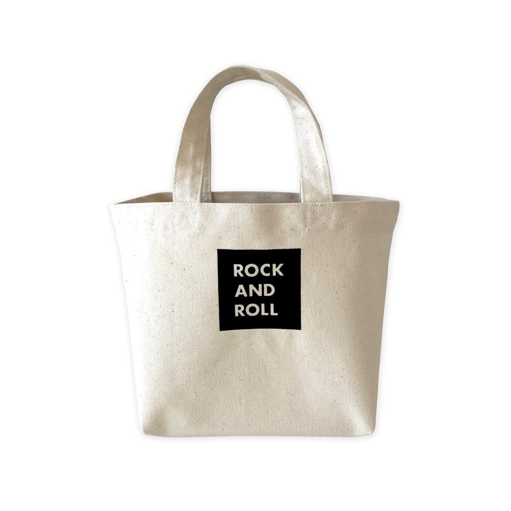 WTM_トートバッグ ROCK AND ROLL 45(ブラック)