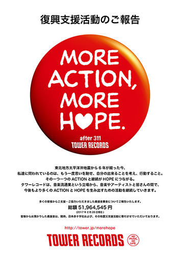 MORE ACTION, MORE HOPE. 復興支援活動のご報告