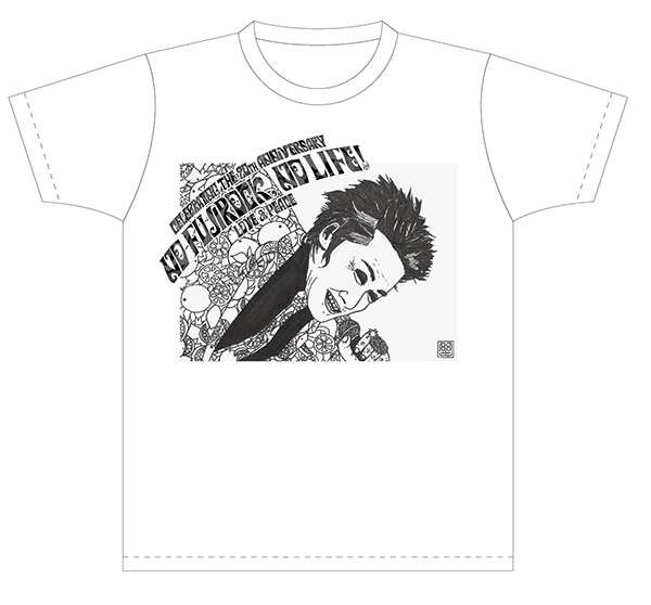 モンド君描き下ろし「忌野清志郎さん似顔絵Tシャツ」
