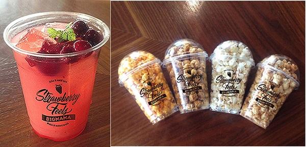 コラボドリンク『Strawberry Feels』、コラボポップコーン『POPCORN STAR』(チーズ、キャラメル、塩、バーベキュー)