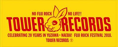 MADBUNNY「NO FUJIROCK, NO LIFE!」タワーレコードタオル