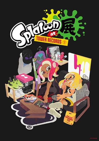「Splatoon展 at TOWER RECORDS」メインヴィジュアル