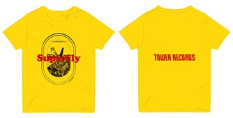 Superfly × TOWER RECORDS Window Tシャツ イエロー