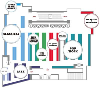 タワーレコード新宿店9F フロアマップ