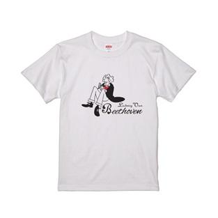 WTM クラシカルTシャツ Beethoven(イラスト)ホワイト