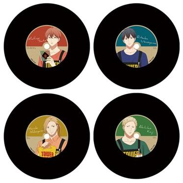 ギヴン × TOWER RECORDS トレーディングレコードコースター(全4種)