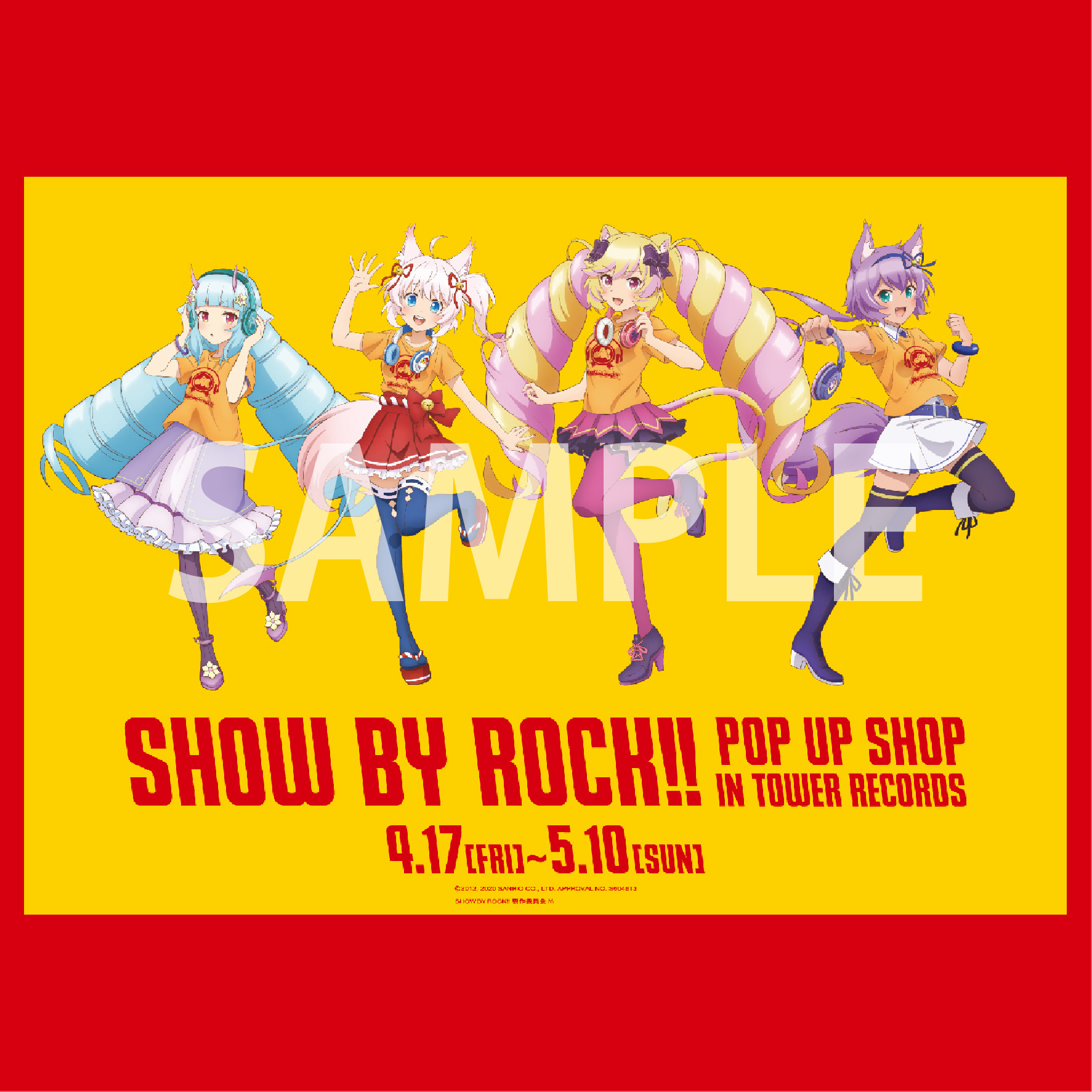TOWERanime & AMNIBUS presents「SHOW BY ROCK!! POP UP SHOP in TOWER RECORDS」開催