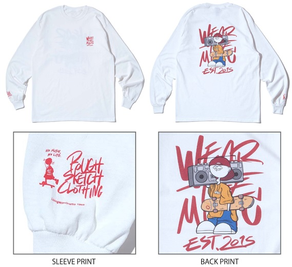 RSC × WTM L/S T-shirt White