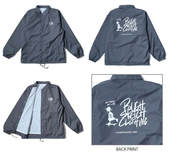 RSC × WTM Nylon Coach Jacket Gray