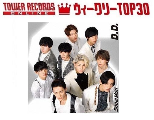 「J-POPシングル ウィークリーTOP30」発表。1位はSnow Man vs SixTONES『D.D. / Imitation Rain』、予約1位はSixTONES『NAVIGATOR』(2020年7月6日付)