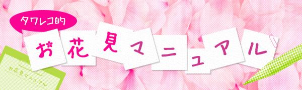 タワレコ的 お花見マニュアル
