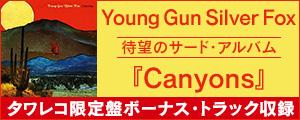 [タワー限定,AOR] Young Gun Silver Fox(ヤング・ガン・シルヴァー・フォックス)ニュー・アルバム『Canyons』発売