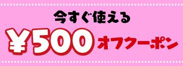500円オフクーポンを全員にプレゼント!