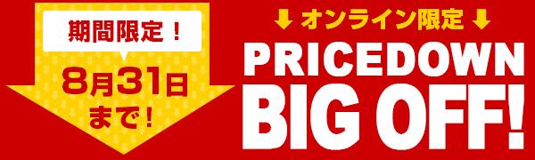 〈8月31日(火)まで〉オンライン限定!BIG OFF!セール