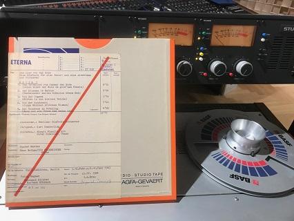 ザンデルリング指揮のマーラー「大地の歌」のアナログ・マスターテープ
