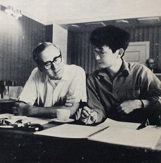 レナード・ペナリオと小澤征爾(1965年)