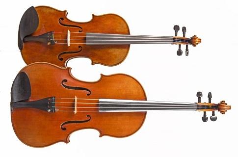 ヴァイオリンとビオラ