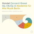 ベルリン古楽アカデミーによるヘンデルの6つの合奏協奏曲&12の合奏協奏曲がセットになって登場!(3枚組)