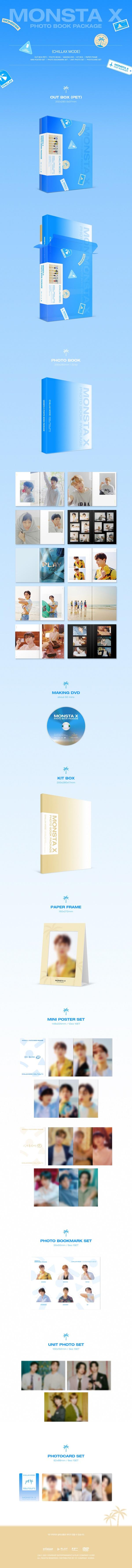 2021 MONSTA X PHOTO BOOK PACKAGE [CHILLAX MODE] [BOOK+DVD]_2