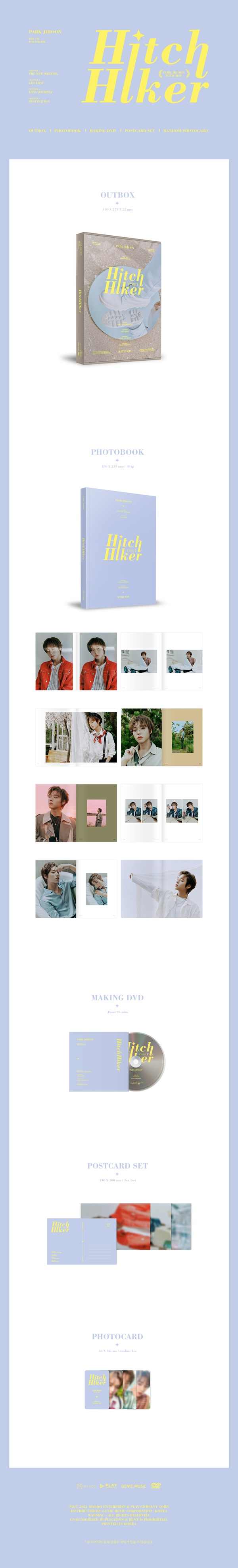 THE 1ST PHOTOBOOK HitchHiker PARK JIHOON WITH MAY [BOOK+DVD]_2