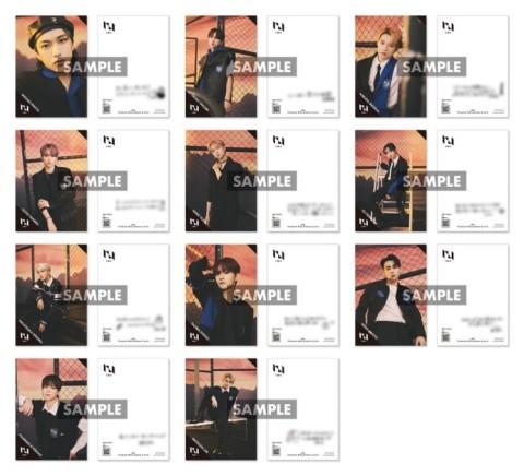 「INI × TOWER RECORDS CAFE」コラボカフェ第1弾特典ポストカード