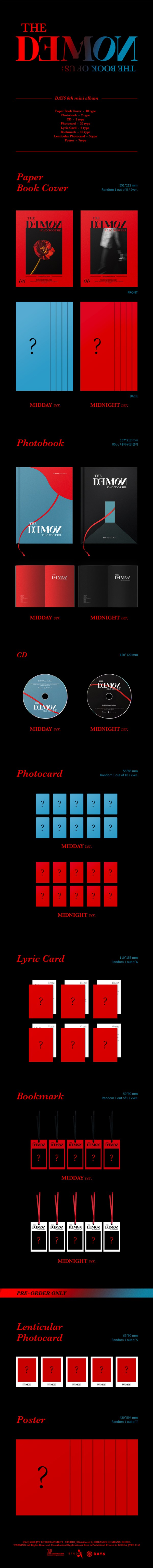 DAY6|韓国6枚目のミニアルバム『THE BOOK OF US:THE DEMON』|
