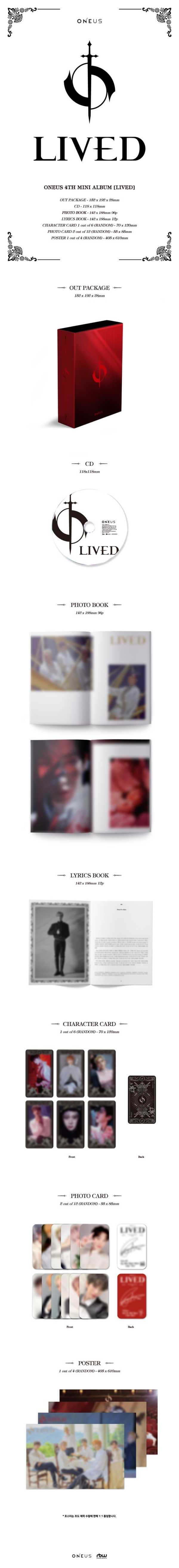 ONEUS、韓国4枚目のミニアルバム『LIVED』