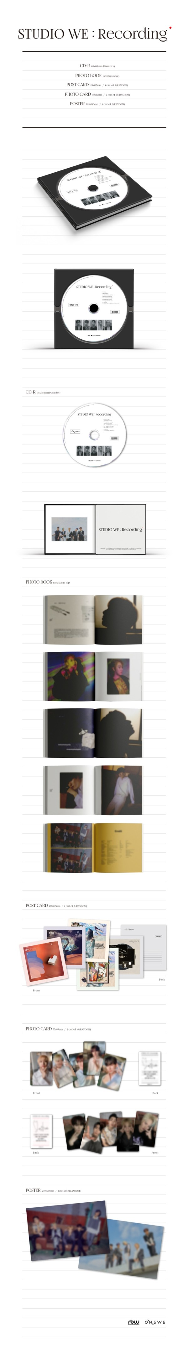 ONEWE|韓国ファースト・デモアルバム『STUDIO WE : Recording』