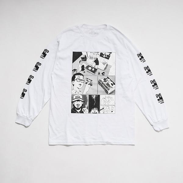 少年イン・ザ・フッド × WEARTHEMUSIC L/S T-shirt(White)