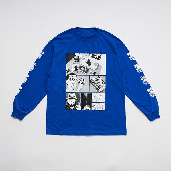 少年イン・ザ・フッド × WEARTHEMUSIC L/S T-shirt(Royal)