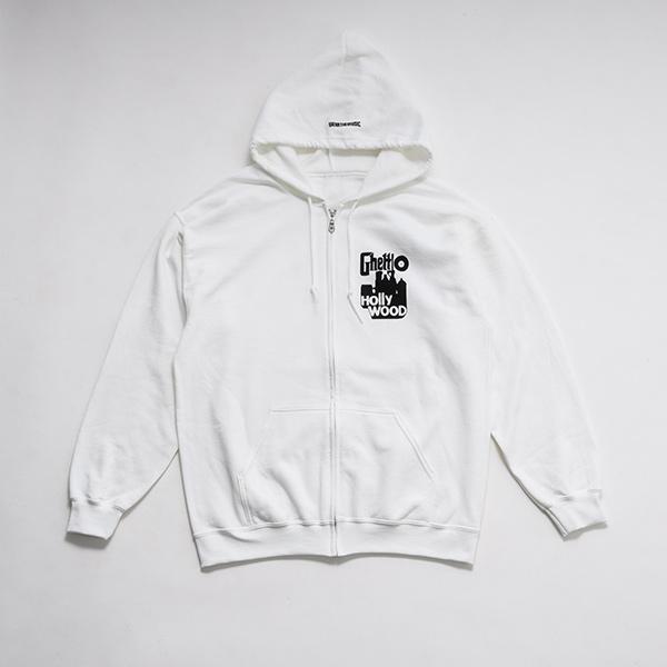 少年イン・ザ・フッド × WEARTHEMUSIC Zip Hoodie (White)