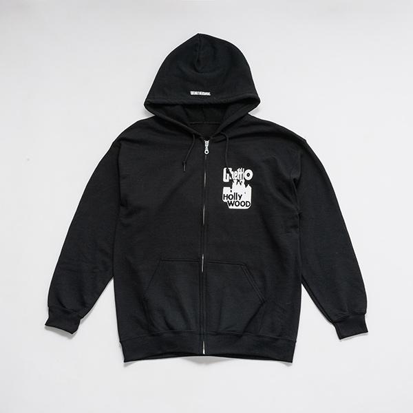 少年イン・ザ・フッド × WEARTHEMUSIC Zip Hoodie (Black)