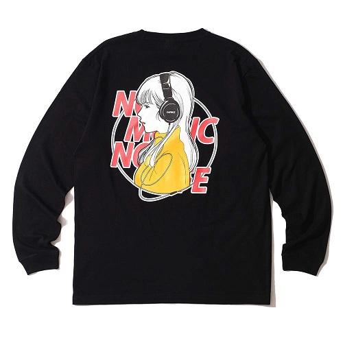 Caprice × WTM Girl L/S T-shirt(Black)