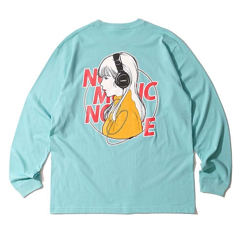 Caprice × WTM Girl L/S T-shirt(Light Blue)