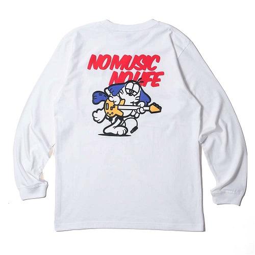 Caprice × WTM Dog L/S T-shirt(White)