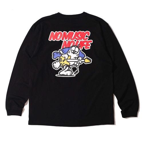 Caprice × WTM Dog L/S T-shirt(Black)