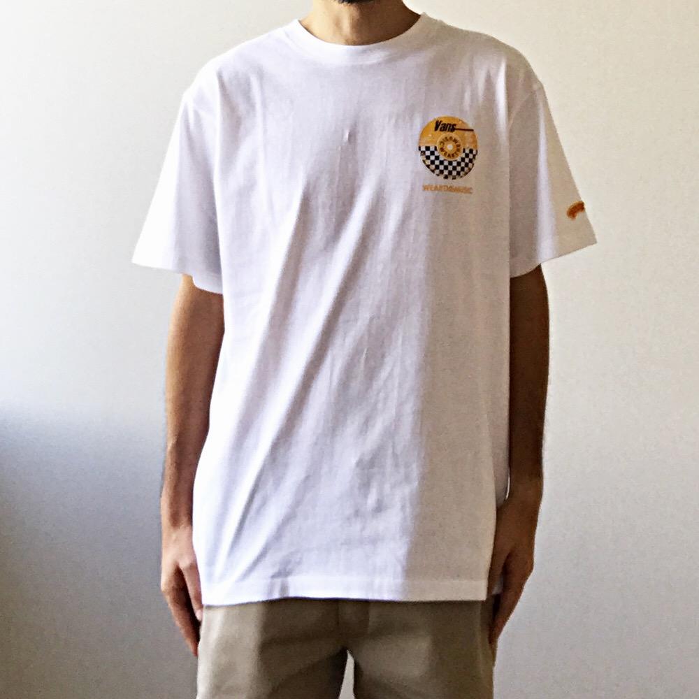 VANS × WEARTHEMUSIC チェッカー Tee ホワイト