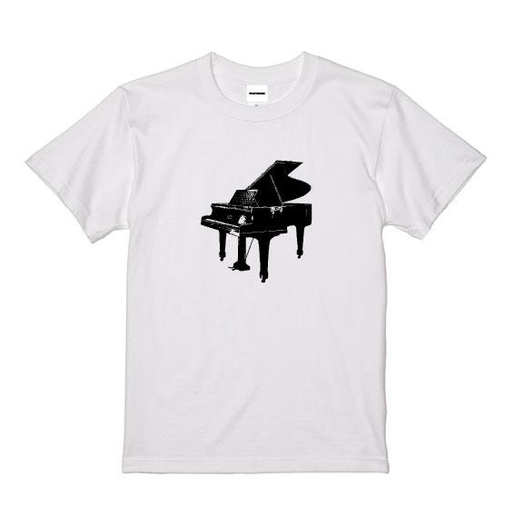 WTM クラシカルTシャツ Grand Piano ホワイト